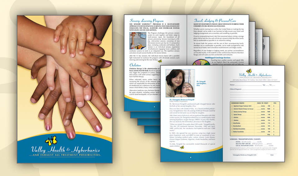 Valley Health & Hyperbarics - Print Materials