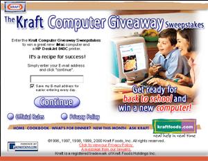 Kraft Foods - Interactive Promotions