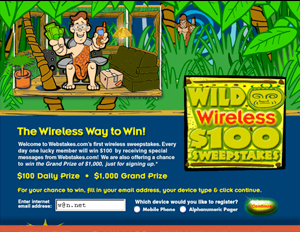 Webstakes Wireless - Interactive Promotion