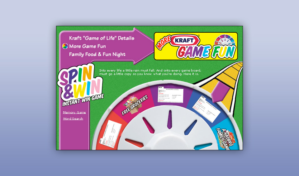 Kraft Foods - Interactive Promotion