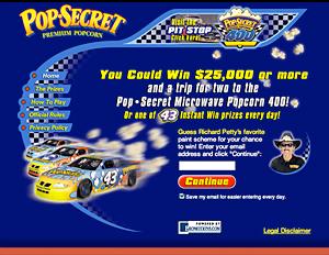 Pop Secret Popcorn - interactive promotion